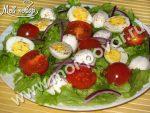 Салат с моцареллой и перепелиными яйцами – , – .