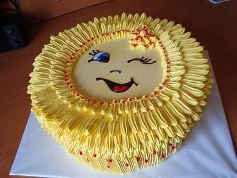 торт солнышко фото из крема немного