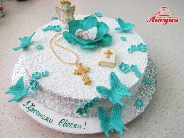 фото тортов на крестины без мастики днем рождения для